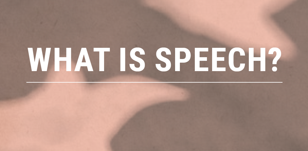 What is speech cover image