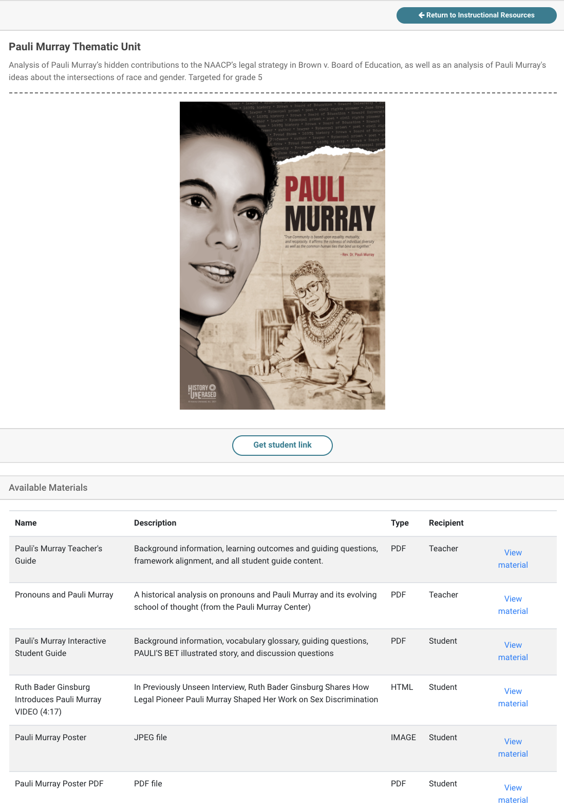 pauli murray instructional resource full page teacher view image