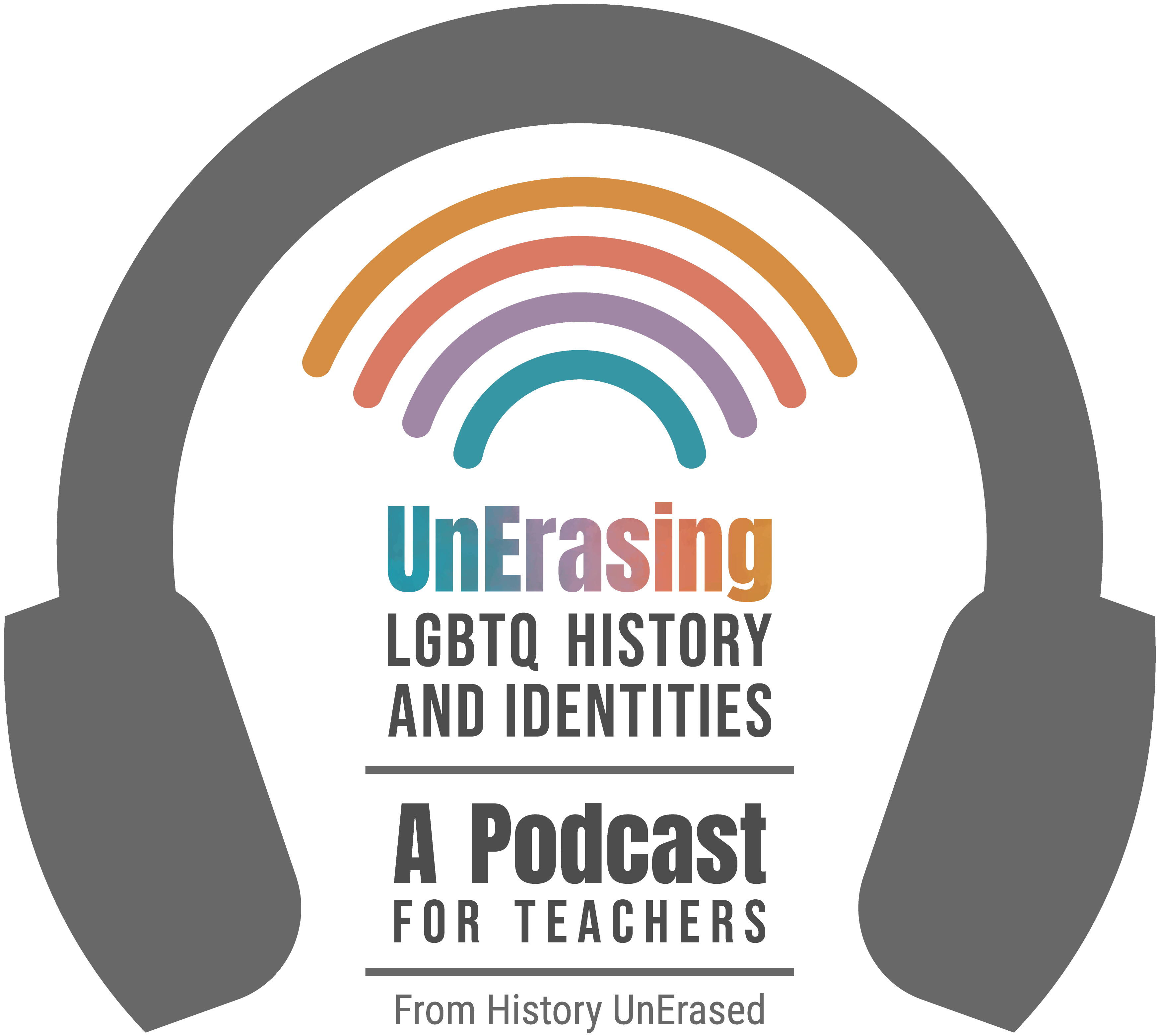 UnErasing LGBTQ history and identities podcast logo