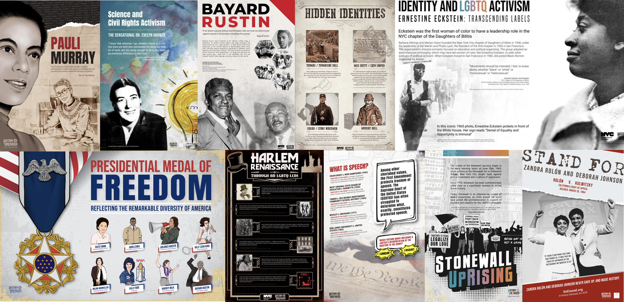 instructional posters collage